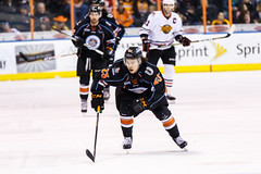 "Kansas City Mavericks vs. Indy Fuel, February 16, 2018, Silverstein Eye Centers Arena, Independence, Missouri.  Photo: © John Howe / Howe Creative Photography, all rights reserved 2018. • <a style=""font-size:0.8em;"" href=""http://www.flickr.com/photos/134016632@N02/39676460814/"" target=""_blank"">View on Flickr</a>"