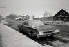 Lee Vining, California (austin granger) Tags: leevining snow headlights winter sidewalk car film idling