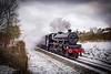 5XP Jubilee Class, 45690, Leander (ChromaphotoUK) Tags: 5xp jubilee leander lms eastlancsrailway elr springgala steam train engine transport rails snow freezing