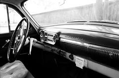 Dashboard (Phil Roeder) Tags: baldwin iowa chevrolet chevy dashboard vehicle automobile blackandwhite monochrome film ilforddelta400 ilford leica leicaflex leicaflexsl elmaritr35mmf28 elmaritrf2835mm