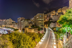 Cast Our Eyes (Tim van Zundert) Tags: frenchriviera cotedazur hdr highdynamicrange monaco montecarlo lacondamine landscape city cityscape road lighttrails night evening longexposure sony a7r voigtlander 21mm ultron