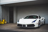 Twin-Turbocharged (Noah L. Photography) Tags: ferrari 488 gtb white car sportscar supercar italian lamborghininewportbeach newportbeach costamesa nikon50mmf18seriese
