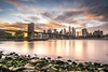 New York, New York (James Whitlock Photography) Tags: usa america new york manhattan brooklyn bridge sunset sun long exposure cloud fire sky freedom tower skyline city nikon d810 lee filter gitzo