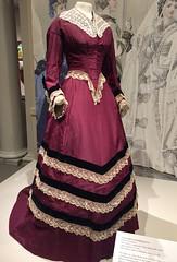 Victorian wedding Dress, 1866, 1876 (Foxy Belle) Tags: museum costume 1800s clothing victorian era dress fashion