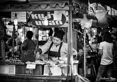 The humble street vendor (gunman47) Tags: 2017 asia asian b bw bangkok chatuchak christmas december east market mono monochrome sepia siam south thai thailand w black food humble people photography stall street streetside tourist vendor weekend white woman krungthepmahanakhon mo chit