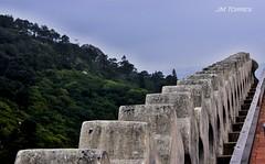 Almenas del Palacio da Pena. Sintra (Portugal) (j.torresgrifol) Tags: castillo palacio almenas puntodefuga piedra portugal sintra