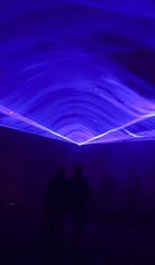 Drawn to the light (suzannesullivan2) Tags: smoke lights dark silhouttes night purple blue
