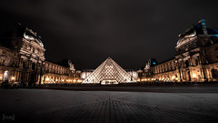 The Louvre, Paris, France (KSAG Photography) Tags: museum architecture palace history heritage art gallery night nightphotography city urban pyramid paris france march 2018 nikon wideangle square courtyard landscape cityscape monument hdr travel tourism artgallery