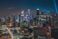 Lightsabers' Dance (Bernard Yeo) Tags: citylights cityscape lighttrails livecomposite nightscape olympus panasoniclumix singapore