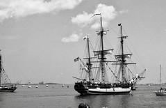 SailBoston1992 Ship HMS Rose BostonMA 7-11-1992d (ironmike9) Tags: sailboston1992 bostonharbor bostonma sail port harbor waterfront channel nautical maritime frigate hmsrose clouds vessel