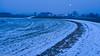 red moon (usteffen) Tags: landschaft kurve weg morgenlicht mond feld schnee acker