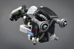 Longarm (Rear) (Klikstyle) Tags: lego speederbike cyberpunk vignette district18 police