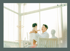 And... My dad is here... (Nas-Photographer) Tags: baby sugar duha nasphoto huyhuyconcept green blue orange mother father family queen white light highkey love photographer music