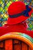 Chapeau cloche (Edgard.V) Tags: paris parigi montmartre vendanges vendemie harvest hat chapeu capello rosso vermelho rouge red