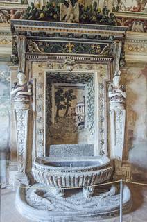 Tivoli : Villa D'Este- Appartamento Nobile , Sala Centrale- Fontana di Tivoli