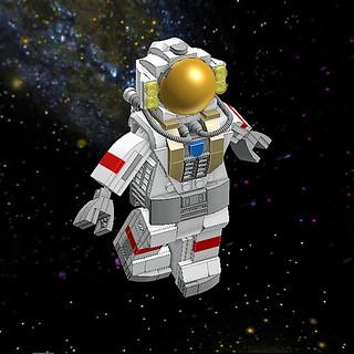 Brick's'tronaut in space