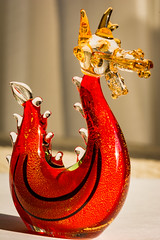 #46 Here be dragons (tokyobogue) Tags: tokyo japan nikon nikond7100 d7100 tokina tokina100mmf28atxprod glass ornament macro red yellow 365project