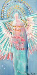 Protection of Innocence (Kerri Blackman) Tags: angels angelpainting softcolor abstractfigure lightblue pink spirit