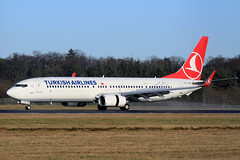 TC-JYC Turkish Airlines Boeing 737-9F2(ER)(WL) at Edinburgh on 20 January 2018 (Zone 49 Photography) Tags: 2018 737 739 900 9f2 aircraft airliner airlines airport aviation boeing edi egph er edinburgh january plane scotland tcjyc thy tk turkish turnhouse wl