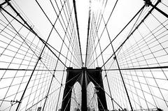 The Net (Cyclase) Tags: usa monochrome architecture city manhattan brooklyn net landmark contrast einfarbig himmel linien lines architektur symmetrie geometrisch newyork cityscape abstrakt abstract minimal skancheli