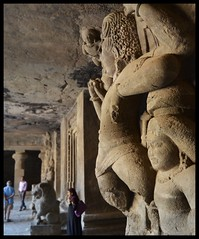 Elephanta Caves (indianature13) Tags: elephantacaves elephanta is elephantaisland gharapuri gharapuriisland unescoworldheritagesite maharashtra mumbai indianature india indiatourism indiaheritage mtdc tourism sightseeing bombay bombayharbour ancientheritage heritage rockcutcaves shivatemple shiva siva lordshiva ancientrockcuthindutemple 2018 february history culture society life carving stonecarving art sculpture worldheritagesite ancientindia ancientindianhistory historicindia