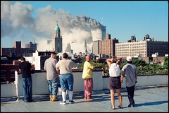911_06 (Chris Protopapas) Tags: pentax nyc 911 september tuesday catastrophe analog film agfa newyorkcity worldtradecenter wtc 2001 manhattan collapse attack eastvillage rooftop disaster
