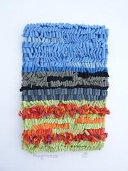 Abstract Mungrisdale (jkw_fire_horse) Tags: textileart fiberart fibreart handhooking ragrugtechnique landscapecolours abstractlandscape firehorsetextiles