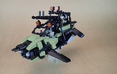 M17 Manta Tactical Hover Pod (Greeble_Scum) Tags: lego future city tactical military speeder bike hover gun weapon olive green cyber punk mini figure moc build creation