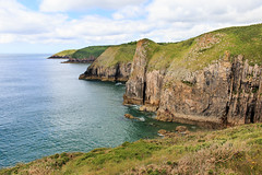 Keep away from the edge! (Keith in Exeter) Tags: pembrokeshire coast nationalpark wales coastal sea cliff grass steep precipitous rugged danger risk rock landscape seascape vista outdoor water