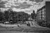 Wroclaw / Breslau (Andreas Meese) Tags: wroclaw breslau 1 mai 2017 polen nikon d5100 tag day wolkig cloudy wolken clouds strassenszene streetscene black white bw