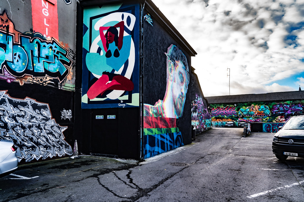 STREET ART AT THE TIVOLI CAR PARK IN DUBLIN [LAST CHANCE BEFORE THE SITE IS REDEVELOPED]-135615