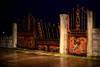 Cerca vencida (Testigo Indirecto) Tags: cerca puerta abandoned abandono pasado óxido oxidado cierre gate oldgate redgate puertaroja fence valla night nightshot 50mm 5012 nocturna