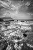 Misty Waves B&W. (dasanes77) Tags: canoneos6d tripod landscape seascape cloudscape blackandwhite mist fog waves alicante calpe rocks shoreline dynamic sunrise