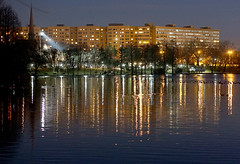 Night reflections (Dumby) Tags: night bucharest românia sector3 ior titan landscape noapte reflexii reflections bucurești alpha6000 sony