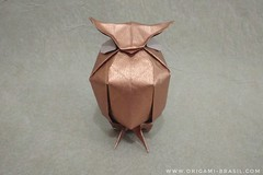 32/365 Owl by Nguyen Hung Cuong (origami_artist_diego) Tags: origami origamichallenge 365days 365origamichallenge owl