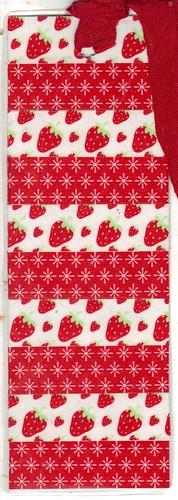 Strawberry Washi Bookmark