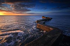 Harbor (Bohumil Daňa) Tags: saintmonans scotland unitedkingdom gb harbor sea sunrise lee canon scottish theme colour aoi elitegalleryaoi bestcapturesaoi