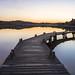 Footbridge and reflections