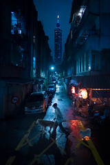 Taipei 101|夜台北 (里卡豆) Tags: 臺北市 台北市 台灣 tw night taiwan olympus panasonicleicadg12mmf14 panasonic leica dg 12mm f14 台北 taipei penf 101 taipei101 city street