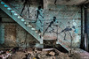 Slippery (LaR0b) Tags: ue urban urbex exploration exploring decay abandoned lar0b lost hdr highdynamicrange roa factory graffiti art stair