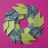 Ghirlanda di foglie - Garland of Leaves (Francesco Guarnieri) Tags: ghirlanda foglie garland origami ghirlandadifoglie garlandofleaves qqm60 francescoguarnieri wreath mandala ring modular
