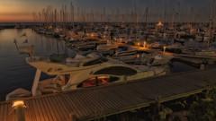 Boat harbor Kühlungsborn (Heinze Detlef) Tags: boot segelboot jachthafen kühlungsborn wasser hafen steg boote jachten motorboote flaniermeile urlaub urlauber abendsonnenuntergang
