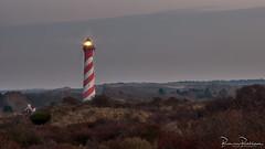 "Lighthouse ""West Schouwen"" or ""Westerlichttoren"" (BraCom (Bram)) Tags: 169 250guldenbiljet bracom bramvanbroekhoven burghhaamstede holland le nederland netherlands schouwenduiveland westschouwen westerlichttoren zeeland avond bush cottage duinen dunes evening fog gras grass huisje landscape landschap langesluitertijd licht light lighthouse longexposure mist red rood sky spiraal spiral struiken vuurtoren white widescreen wit saariysqualitypictures"