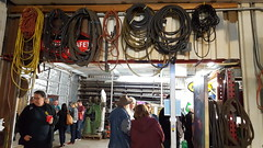 Art and Artist Lovers mingle amongst cables and belts.