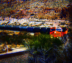 WestBound Unit Train Action (Woodypug) Tags: bnsf kingmancanyon westbound unittrain locomotive landscape