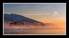 Beautiful Winter sunset in Lofoten, Arctic Norway (rosscosqf) Tags: nikon d850 landscape mist sea rorbrua sunset mountain goldenlight frozen lofoten norway arctic