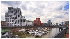 006 NBS Mediahafen Düsseldorf_HDR2 Nik (nbrausse) Tags: archtektur deutschland dã¼sseldorf lã¤nderstã¤dte mediahafen modernearchitektur düsseldorf länderstädte