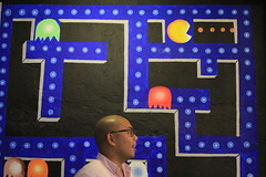 Who's the real pacman? (thejourneyingengineer) Tags: walls creative concept color people portrait humor social media pacman