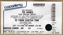 The Damned ticket (2018) (Paul-M-Wright) Tags: concert ticket thedamned punk rock gig 02 forum kentish town north london saturday 17 february 2018 dave vanian captain sensible