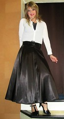 Another Week (Amber :-)) Tags: long black satin skirt tgirl transvestite crossdressing